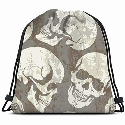 - Skulls Skull Illustrations Clip Art Drawstring Backpack Bag For Kids Boys Girls Teens Birthday, Gift String Bag Gym Cinch Sack For School And Party
