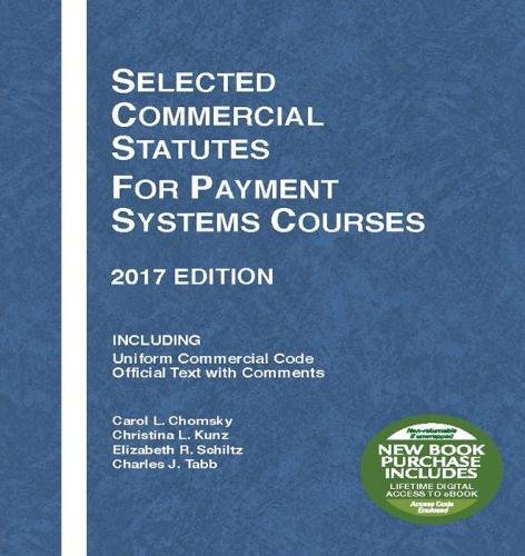 Selected Comm.Statutes...Payment System
