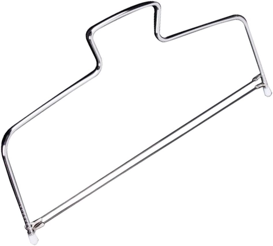 Adjustable Cake Leveler with Premium Food Grade Stainless Steel | Double Wire Slicer Cake Cutter for Leveling Tops of Layer | Cakes Professional Baking Tool with 12 x 6 Inches Dishwasher Safe | Silver