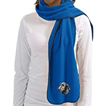 Cherrybrook Royal Blue Dog Breed Embroidered Lightweight Scarves (All Breeds)