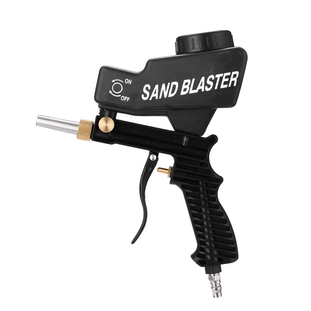 Baugger Sabbiatrice Sabbiatrice portatile gravitazionale Set di sabbiatura pneumatica Sabbiatrice inossidabile