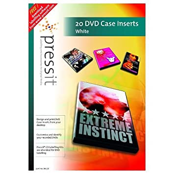 PressIt - Etiquetas para estuches de DVD Pack de 20: Amazon ...