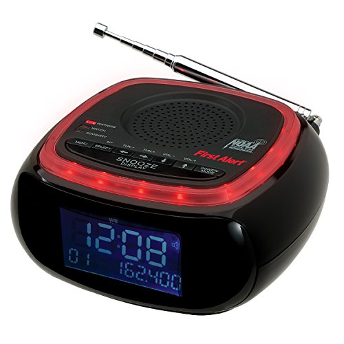 First Alert Weather Radio,Red/Black