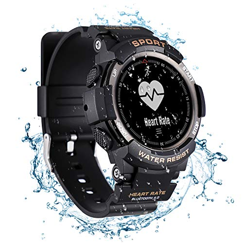 Smart Watch Fitness Tracker Waterproof Outdoor,with Sport Manager,Help Detection,Heart Rate Monitor,Data Synchronization for Men