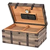 120-Cigar Reclaimed Wood and Humidor with Hygrometer