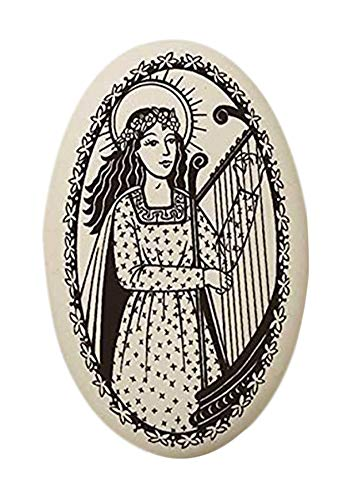 Touchstone St Cecilia Porcelain Oval Medal on Continuous Braided Cord | Patron Saint of Musicians and Singers ()