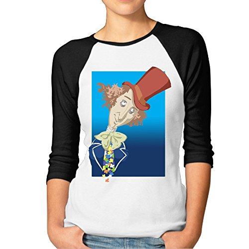 JerseyBaseball Women Ventilate Teeshirt With Gene Wilder Willy Wonka]()
