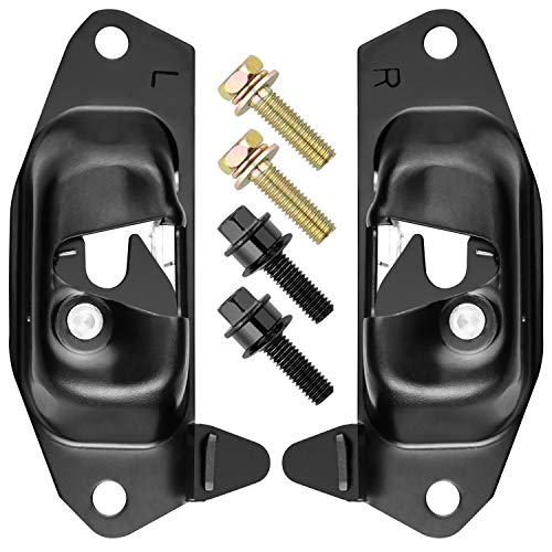 Tailgate Latch Lever, Rear Gate Lock Latch for 99-06 Chevy Silverado GMC Sierra, 02-06 Cadillac Escalade Chevy Avalanche, Replace # 15921948 15921949, Fits Driver and Passenger & Rear Right and Left