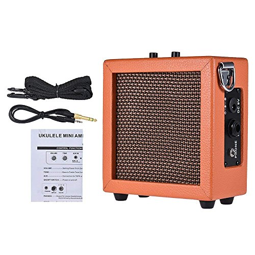 other accessories ammoon guitar bass ukulele amplifier speaker leather edging high sensitivity. Black Bedroom Furniture Sets. Home Design Ideas