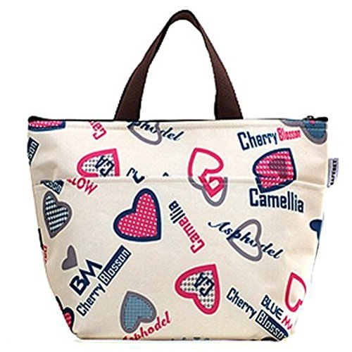 Ovedcray home series Lunch Bag Insulated Women Tote Thermal Box Cooler Travel Picnic Carry Girls Bag (Flower Series Kaleidoscope)
