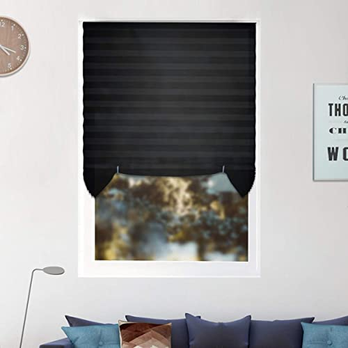 6 Pack Temporary Window Shades Cordless Blinds Light Filtering Pleated Fabric Shade Easy to Cut and Install