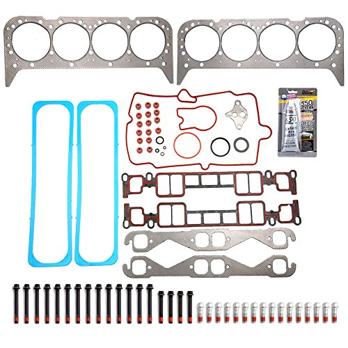 ECCPP Engine Cylinder Head Gasket Bolts Set fit 96-02 AM GENERAL HUMMER CADILLAC ESCALADE CHEVROLET GMC WORKHORSE P30 Compatible fit for Head Gaskets Kit