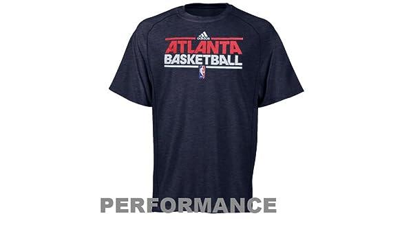 Adidas NBA Atlanta Hawks Pista práctica Rendimiento Camiseta - Jaspeado Azul Marino, Azul: Amazon.es: Deportes y aire libre