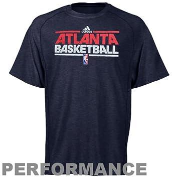 Adidas NBA Atlanta Hawks Pista práctica Rendimiento Camiseta – Jaspeado Azul Marino, Azul
