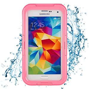 Ultra Slim Waterproof Case with Neck Strap for Samsung Galaxy S5 (Pink)