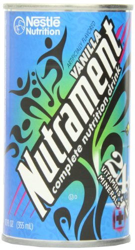 Nutrament Energy and Fitness Drink, Vanilla, 12 Ounce Cans (Pack of 12)