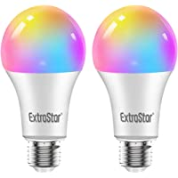 Bombilla LED Inteligente WiFi,Extrastar 2 Pack 10W E27 1000 Lm Bombilla LED Luces Cálidas/Frías & RGB, Lámpara WiFi…