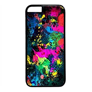 iPhone 5 5S Case, iCustomonline Colorful Stars Designs Protective Hard Case Cover for iPhone 5 5S Black