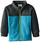Columbia Baby Boys' Steens Mt II Fleece, Deep Marine/Charcoal Heather, 12-18 Months