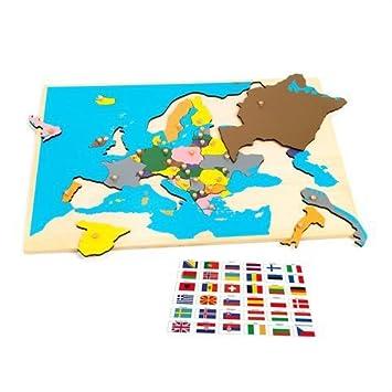 Carte De Leurope Jeux Educatifs.Montessori Puzzle Montessori Bebe Jeu Educatif Enfant Puzzle