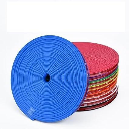 1 rotolo da 7,8 m di lunghezza di nastro protettivo per cerchi in lega, copri-bordo sagomato in gomma per ruote, striscia autoadesiva rimprotector