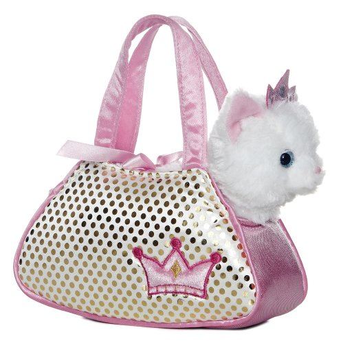 Kitten Cat Purse - Aurora World Fancy Pals Plush Princess Kitty Pet Carrier Purse