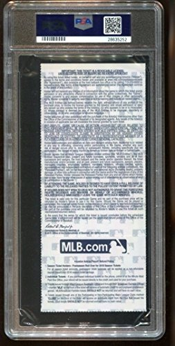 2017 World Series Game 4 Full Ticket Dodgers Astros Minute Maid PSA 9 MT *5252