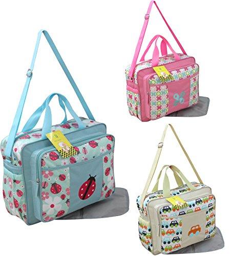 GMMH 2piezas bolso cambiador 2160Bolsa de bolsa para pañales Baby funda Selección de Colores azul azul rosa