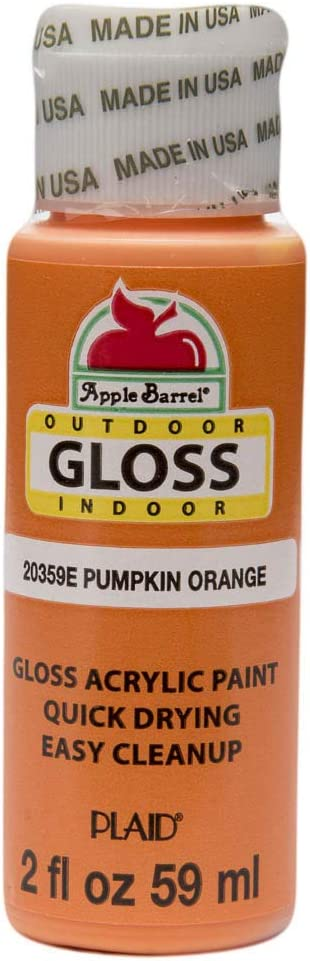 Apple Barrel Gloss Acrylic Paint in Assorted Colors (2-Ounce), 20359 Pumpkin Orange