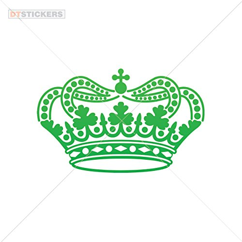 Decal Stickers Crow Mobil Laptop I Phone Motorbike Boat tiara columns architecture no (6 X 3,73 Inches) Green