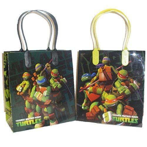 (Ninja Turtles Party Favor Goodie Small Gift Bags)