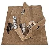 Enjoyment Cat Training Toy Mat Activity Play Mat Fun Interative Play Training Mat Scratching Bed Mat