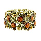 Rosemarie Collections Women's Stone Flower Leaf Cluster Wide - Best Reviews Guide