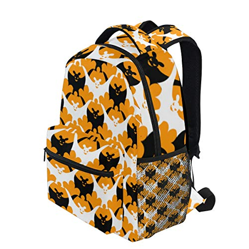 KVMV Halloween Bat Lightweight School Backpack Students College Bag Travel Hiking Camping Bags]()