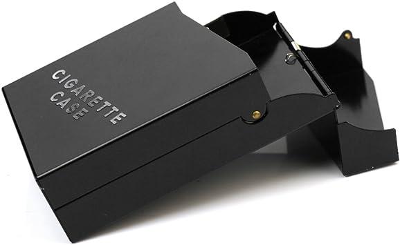 Negra Pitillera Caja para 20 Cigarrillos Accesorio Práctico para ...
