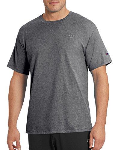 Champion Men's Classic Jersey T-Shirt, Granite Heather, M