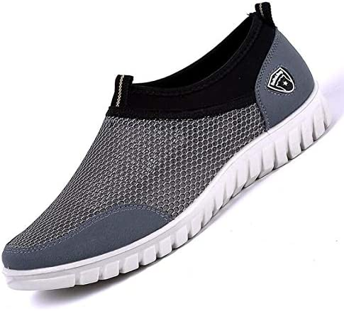 2019 Summer Mesh Shoe Sneakers For Men Shoes Breathable Mens Casual Shoes Slip-On Male Shoes Loafers Casual Walking 38-48 Gray 13: Amazon.es: Deportes y aire libre