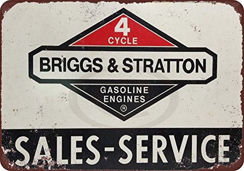 Briggs & Stratton Service Center Vintage Reproduction Metal Sign 8 x 12