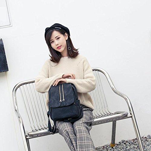 tamaño Liu 11 26 Las Tamaño Claro La Viaje Cm Gran Creativa Yu·casa 30 Mochila Salvajes Azul De Suave Mujeres Cuero Moda BaBq6xwrZ