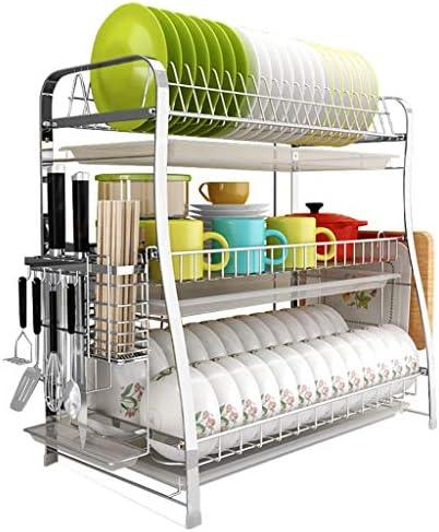H-ei ドリンクトレイとステンレス鋼の食器乾燥機のプラスチック製の排水トレイカトラリーホルダー21.5 * 12.0 * 21.3in