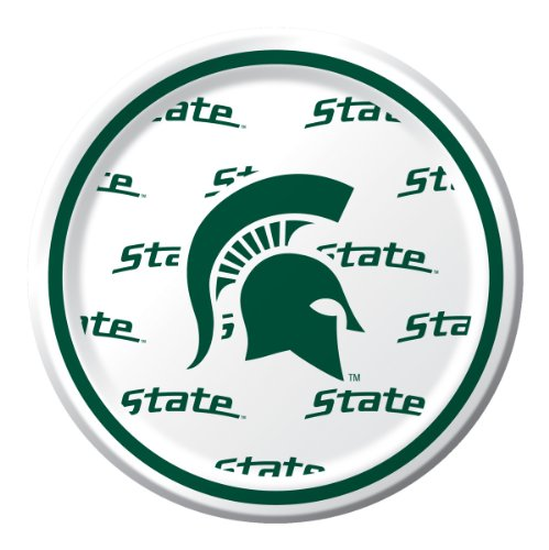 Michigan State Spartans Dessert Paper Plates, 8-Count (2)