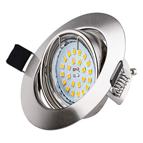 10 X Ojos de Buey de Led, Wowatt Foco Empotrable LED Techo 6W GU10 Equivalentea 50W Halogenos LED Empotrables Techo…