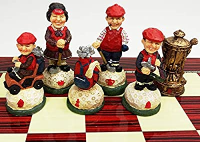"HPL 3 1/2"" King Golf Chess Men Set - NO Board"