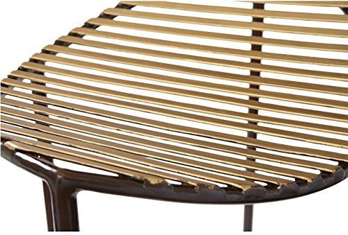 Modern Brass Bronze Half Moon Counter Stool 27'' Curved Open Iron Minimalist Gold by Global Views (Image #2)