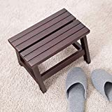 SED Coat Rack-Hanger Floor Bedroom Solid Wood Shoe Bench Stool Living Room Entrance Sofa Children's Stool Low Stool Sturdy Space Saving Storage Rack