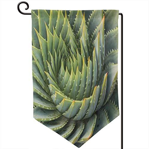 lsrIYzy Garden Flag,Botanic Spikey Wild Nature Inspired Western Dessert Plant Flower Artwork Image,12.5x18.5 - Asian Inspired Desserts