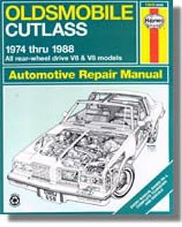 h73015 oldsmobile cutlass 1974 1988 haynes repair manual rh amazon com 1972 Oldsmobile 1974 Oldsmobile Cutlass Supreme