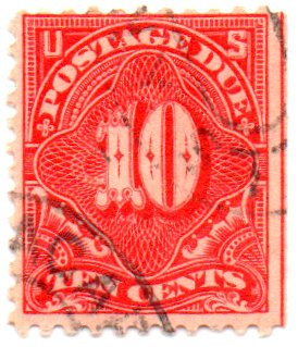 USA Postage Stamp Single 1895 Postage Due Issue 10 Cent Scott #J42 1895 Postage