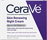CeraVe Skin Renewing Night Cream - Multipurpose Night Cream, Face Moisturizer, Anti Aging Face Cream & Wrinkle Cream – Moisturizer for Face w Hyaluronic Acid & Niacinamide, 1.7 oz