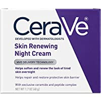 CeraVe - Skin Renewing Night Cream - Multipurpose Night Cream, Face Moisturizer, Anti Aging Face Cream & Wrinkle Cream - Moisturizer for Face w Hyaluronic Acid & Niacinamide - 48g